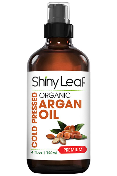Shiny Leaf Argan Oil Bottle