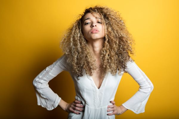 Fabulous curly hair with Argan oil.