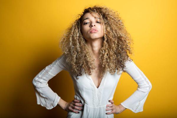 Fabulous curly hair with Argan oil.