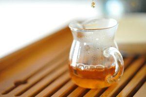Amber-colored Argan oil.