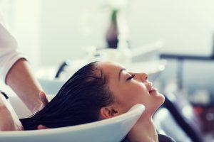 Cleanse hair and scalp with Argan oil shampoo.