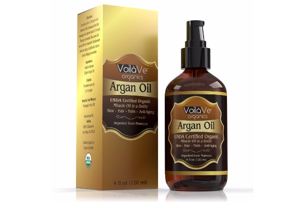 VoilaVe Organic Moroccan Argan Oil Bottle