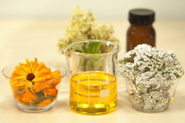 Argan oil in a measuring beaker