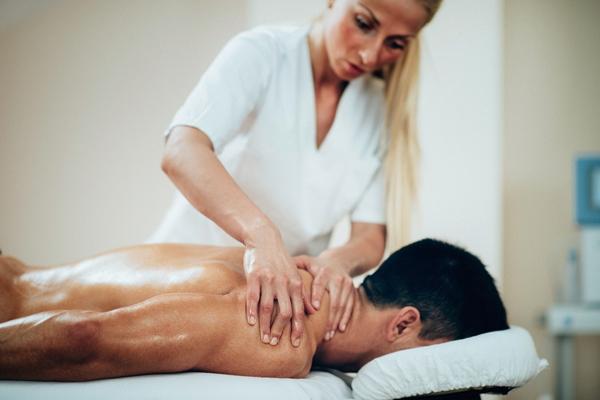 Male's shoulder massage
