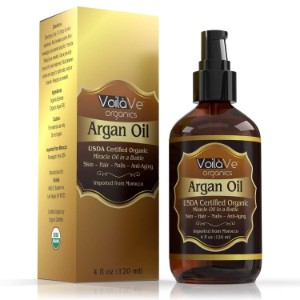 VoilaVe USDA Organic Moroccan Argan Oil