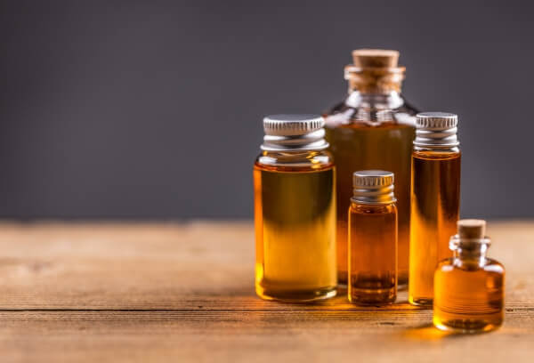 Essential oils in a bottle